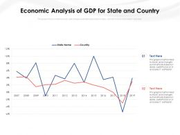 Economic Analysis Of GDP For State And Country