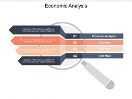 Economic Analysis Ppt Powerpoint Presentation Ideas Icon Cpb