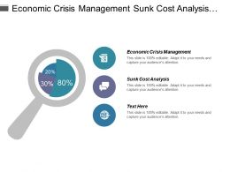 Economic Crisis Management Sunk Cost Analysis Kpi Investments Cpb