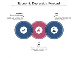 Economic Depression Forecast Ppt Powerpoint Presentation Portfolio Infographic Template Cpb