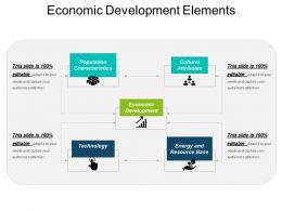 Economic Development Elements Ppt Ideas