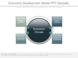 Economic Development Model Ppt Samples