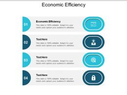 Economic Efficiency Ppt Powerpoint Presentation Gallery Visuals Cpb
