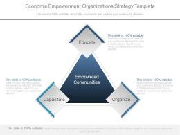 Economic Empowerment Organizations Strategy Template Ppt Images