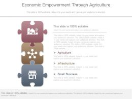 Economic Empowerment Through Agriculture Diagram Ppt Slides