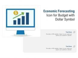 Economic Forecasting Icon For Budget With Dollar Symbol