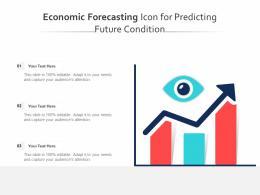 Economic Forecasting Icon For Predicting Future Condition