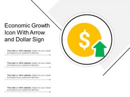 Economic Growth Icon With Arrow And Dollar Sign