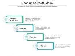Economic Growth Model Ppt Powerpoint Presentation Gallery Designs Cpb