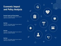 Economic Impact And Policy Analysis Ppt Powerpoint Presentation Diagrams