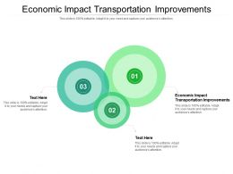Economic Impact Transportation Improvements Ppt Model Design Ideas Cpb