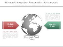 Economic Integration Presentation Backgrounds