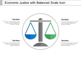 Economic Justice With Balanced Scale Icon