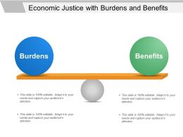 Economic Justice With Burdens And Benefits