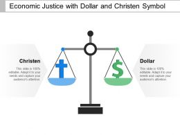 Economic Justice With Dollar And Christen Symbol
