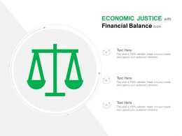 Economic Justice With Financial Balance Icon