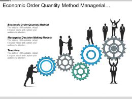 Economic Order Quantity Method Managerial Decision Making Models Cpb