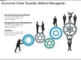Economic Order Quantity Method Managerial Decision Making Models Cpb