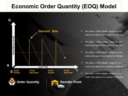 Economic Order Quantity Model Ppt Slide Download