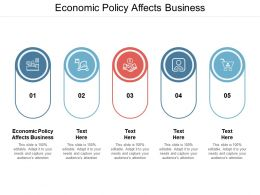 Economic Policy Affects Business Ppt Powerpoint Presentation Summary Aids Cpb