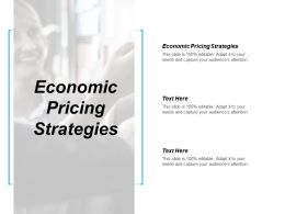 Economic Pricing Strategies Ppt Powerpoint Presentation Infographic Template Guide Cpb