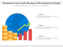 Economics Icon With Business Development Graph