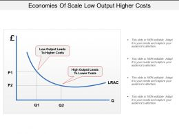 Economies Of Scale Low Output Higher Costs