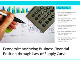 Economist Analyzing Business Financial Position Through Law Of Supply Curve