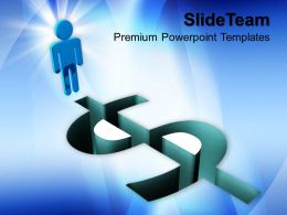 Economy Dollar Signs Powerpoint Templates And Themes Business Cycle Presentation