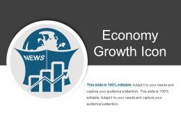 Economy Growth Icon Ppt Slide Templates