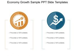 Economy Growth Sample Ppt Slide Templates