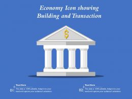 Economy Icon Showing Building And Transaction