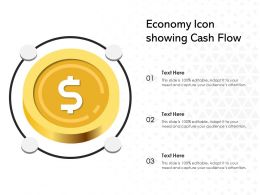 Economy Icon Showing Cash Flow