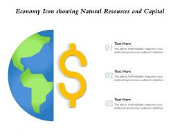 Economy Icon Showing Natural Resources And Capital