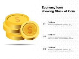 Economy Icon Showing Stack Of Coin