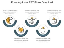 Economy Icons Ppt Slides Download