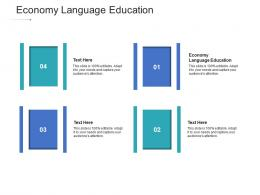 Economy Language Education Ppt Powerpoint Presentation Styles File Formats Cpb