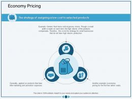 Economy Pricing Not The Strategy Ppt Powerpoint Presentation Professional Portrait