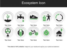 Ecosystem Icon Ppt Presentation Examples