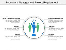 Ecosystem Management Project Requirement Engineer Marketing Planning Customer Analysis