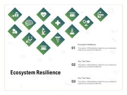 Ecosystem Resilience Ppt Powerpoint Presentation File Clipart