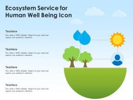 Ecosystem Service For Human Well Being Icon