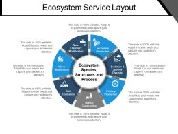 Ecosystem Service Layout Ppt Sample Download
