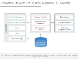Ecosystem Structure For Big Data Integration Ppt Example