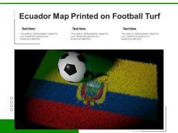 Ecuador Map Printed On Football Turf
