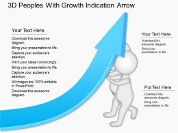 ed 3d Peoples With Growth Indication Arrow Powerpoint Template