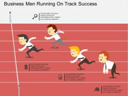 ed Business Men Running On Track Success Flat Powerpoint Design