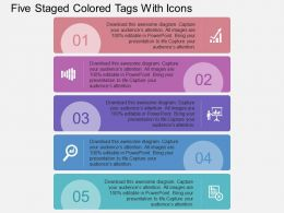 ed_five_staged_colored_tags_with_icons_flat_powerpoint_design_Slide01