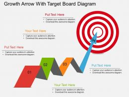 ed Growth Arrow With Target Board Diagram Flat Powerpoint Design