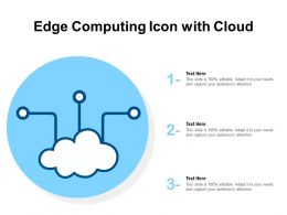 Edge Computing Icon With Cloud